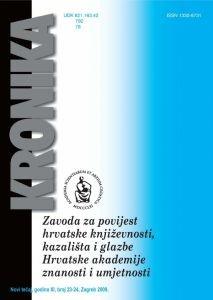 N. t. god. 11, br. 23-24(2009) : Kronika Zavoda za povijest hrvatske književnosti, kazališta i glazbe HAZU