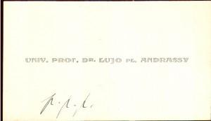 Univ. prof. dr. Lujo pl. Andrassy