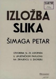 Izložba slika Šimaga Petar