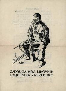 Zadruga hrv. likovnih umjetnika Zagreb 1937.