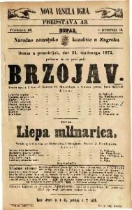 Brzojav : Vesela igra u 1 činu / od Gustava Pf. Moravskoga