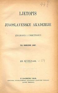 Za godinu 1907. Sv. 22 : Ljetopis