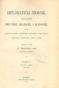Sv. 2: Listine XII. vijeka 1101-1200 : Diplomatički zbornik Kraljevine Hrvatske, Dalmacije i Slavonije
