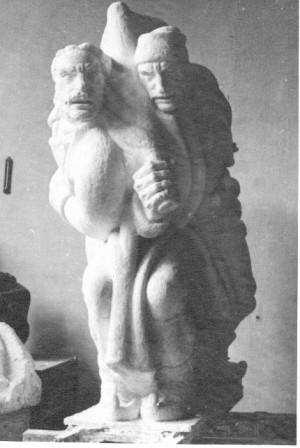 Augustinčić, Antun (1900-1979) : Model grupe boraca za Spomenik palim Šumadincima u Kragujevcu