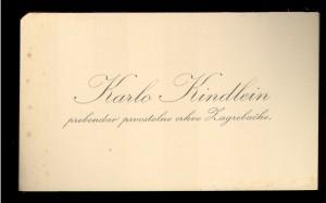 Karlo Kindlein prebendar prvostolne crkve Zagrebačke