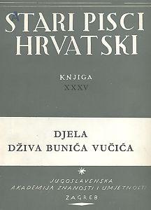 Djela Dživa Bunića Vučića : Stari pisci hrvatski