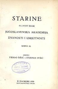 Knj. 40(1939) : Starine