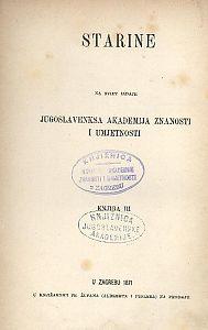Knj. 3(1871) : Starine