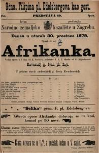 Afrikanka : velika opera u 5 čina / glasba od G. Meyerbeer-a