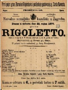 Rigoletto opera u 3 čina / glasba od Verdi-a