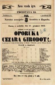 Oporuka cezara Girodota Vesela igra u tri čina / S francezkoga od Belota i Villetarda preveo Milovan Zoričić