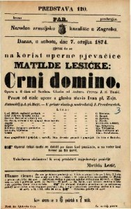 Crni domino Opera u 3 čina / od Scribea. Glasba od Aubera