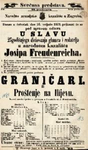 Graničari ili Proštenje na Ilijevu Izvorni narodni igrokaz s pjevanjem u 3 razdiela