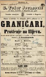 Graničari ili Proštenje na Ilijevu Izvorni narodni igrokaz s pievanjem u 3 razdiela / Josip Freudenreich