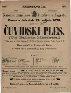 Čuvidski ples velika opera u 3 čina / uglasbio Giuseppe Verdi  =  Un Ballo in Maschera