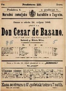 Don Cesar de Basano Drama u 5 činah / napisao Dumanoir