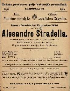 Alessandro Stradella romantična opera u 3 čina / od Friedricha pl. Flotova