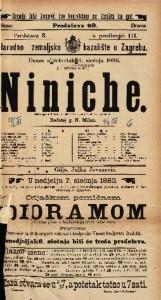 Niniche Šaljiva igra u 3 čina / napisali A. Henequin i A. Millaud