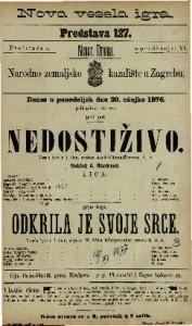 Nedostiživo vesela igra u 1 činu / napisao Adolf Wilbrandt