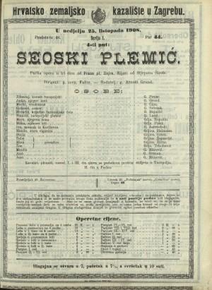 Seoski plemić Pučka opera u tri čina