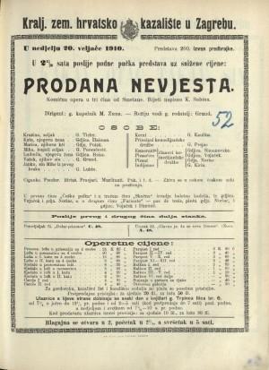 Prodana nevjesta Komična opera u tri čina