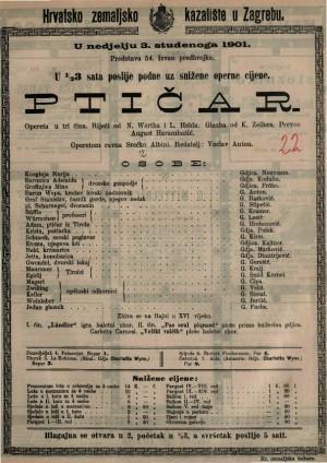 Ptičar opereta u tri čina / glazba od K. Zellera