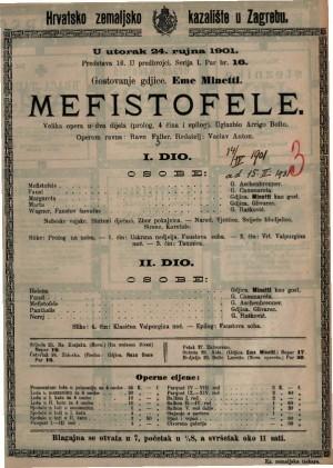Mefistofele velika opera u dva dijela (prolog, 4 čina i epilo) / uglazbio Arrigo Boito