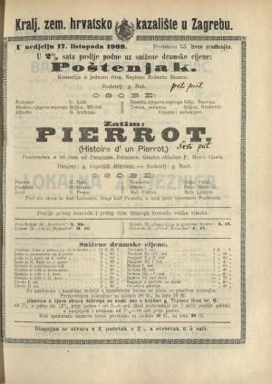Poštenjak ; Pierrot Komedija u jednom činu ; Pantomima u tri čina
