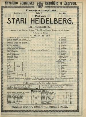 Stari Heidelberg Igrokaz u 5 činova  =  (Alt-Heidelberg)