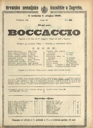 Boccaccio Opereta u tri čina