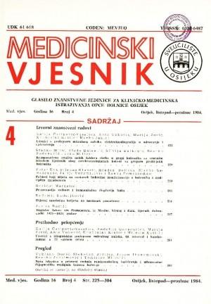 God. 16, br. 4(1984) : Medicinski vjesnik