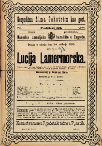 Lucija Lamermorska Tragička opera u 3 čina / Glasba od Caetana Donizettia