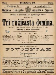 Tri ružičasta domina Vesela igra u 3 čina / napisali A. Delacour i A. Henequin