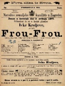 Frou-Frou : slika iz parižkog života u 5 čina / napisali Meilhac i Halevy