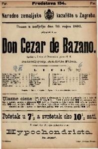 Don Cezar de Bazano Igrokaz u 5 čina / od Dumanoir-a
