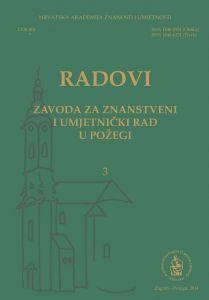 Sv. 3 (2014) : Radovi Zavoda za znanstveni i umjetnički rad u Požegi