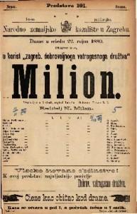 Milion vesela igra u 5 činah / napisali Labiche i Delacour