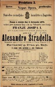 Alesandro Stradella romantična opera u 3 čina / od Fridricha pl. Flotova