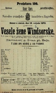 Vesele žene Windsorske vesela opera u 3 čina / po istoimenoj Shakespearevoj veseloj igri preradjeno po H. S. Mosenthalu