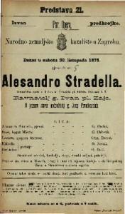 Alesandro Stradella : romantična opera u 3 čina / od Friedricha pl. Flotova
