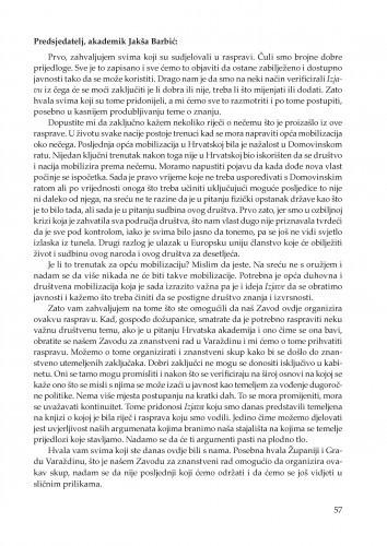 Zatvaranje okruglog stola : Posebna izdanja / Hrvatska akademija znanosti i umjetnosti, Zavod za znanstveni rad u Varaždinu