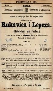 Rukavica i lepeza Vesela igra u 3 čina / od Bayarda i Souvagea