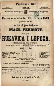 Rukavica i lepeza Vesela igra u 3 čina / od Bayarda i Sauvage-a  =  Handschuh und Facher