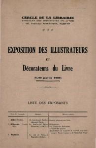 Exposition des Illustrateurs et Decorateurs du Livre