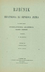 Sv. 28 : micati-1. mjesto : Rječnik hrvatskoga ili srpskoga jezika