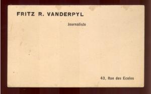 Fritz R. Vanderpyl journaliste