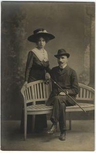 Antun Gustav Matoš s Olgom Herak u Opatiji 1909.