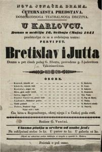 Bretislav i Jutta : Drama u 5 činah