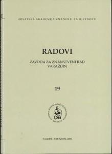 Knj. 19 (2008) : Radovi Zavoda za znanstveni rad Varaždin