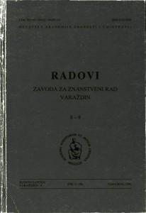 Knj. 8/9 (1996) : Radovi Zavoda za znanstveni rad Varaždin